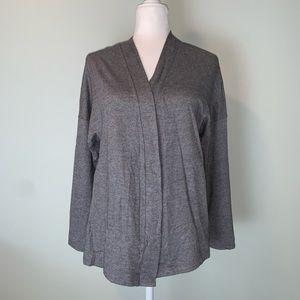 Hanro Switzerland Gray sweatshirt fabric wrap 3169